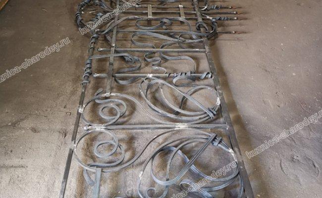 Кованые ворота раздвижные, автоматические. Кп Бородино