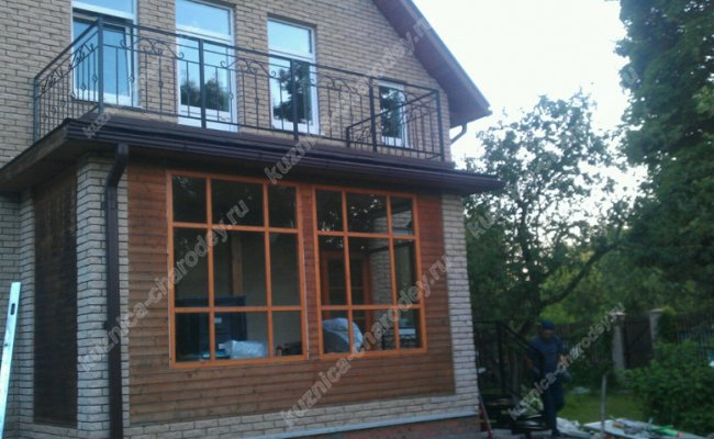 Кованый балкон bn-12