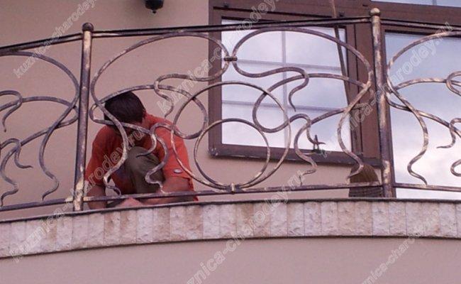 Кованый балкон bn-13