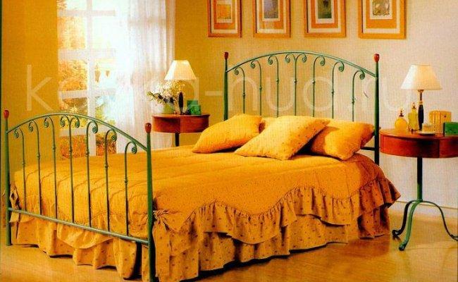 Классическая кровать кованая kkk-0602