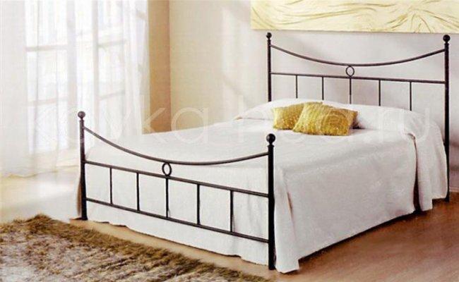 Классическая кровать кованая kkk-0607