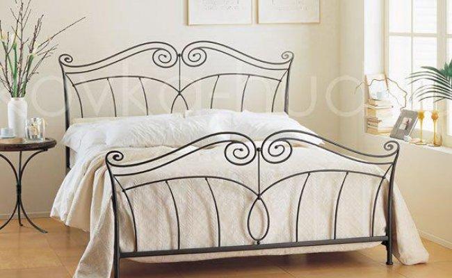 Классическая кровать кованая kkk-0611