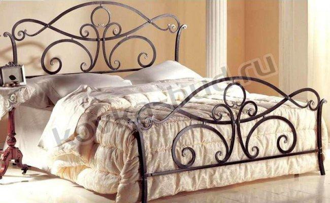 Классическая кровать кованая kkk-0615