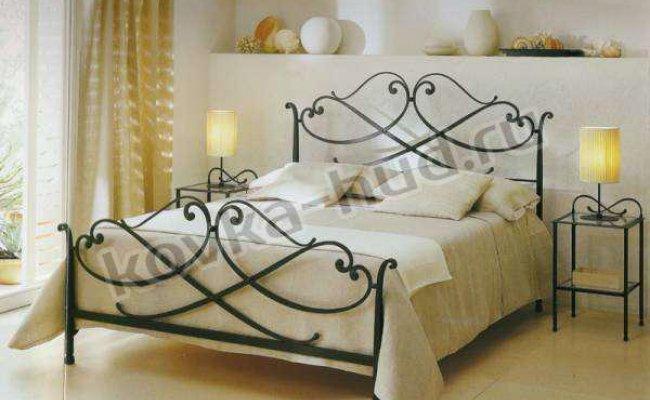Классическая кровать кованая kkk-0616