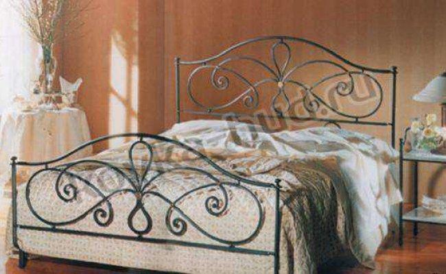 Классическая кровать кованая kkk-0617