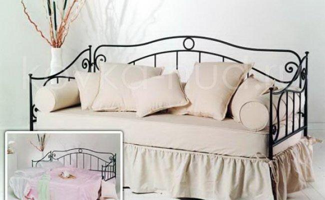 Односпальная кровать кованая kdo-0802