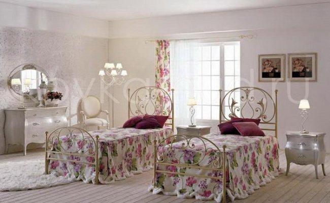 Односпальная кровать кованая kdo-0804