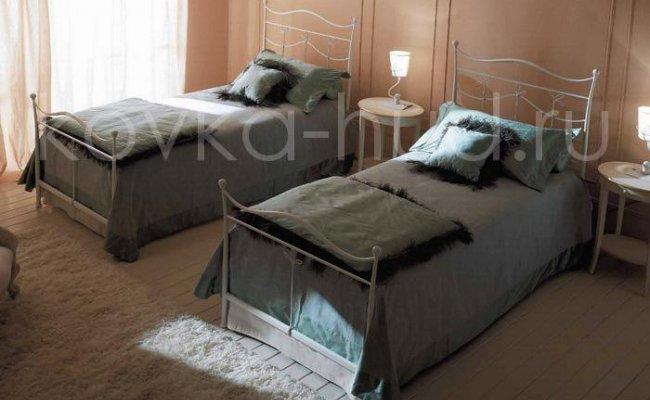 Односпальная кровать кованая kdo-0805