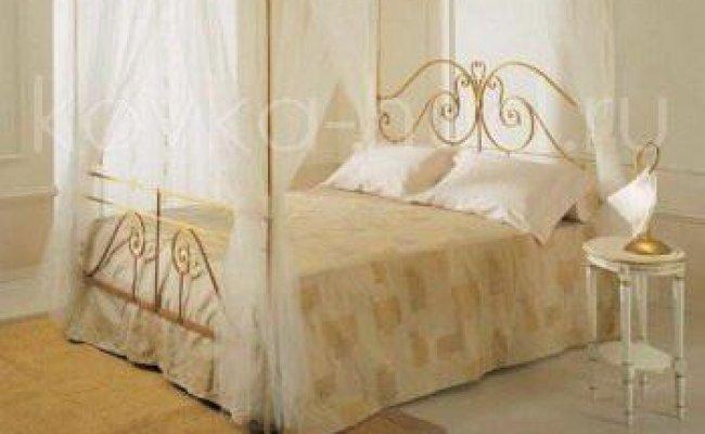 Кровать с балдахином кованая kkb-0712