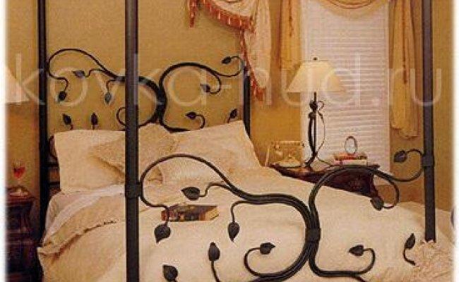 Кровать с балдахином кованая kkb-0714