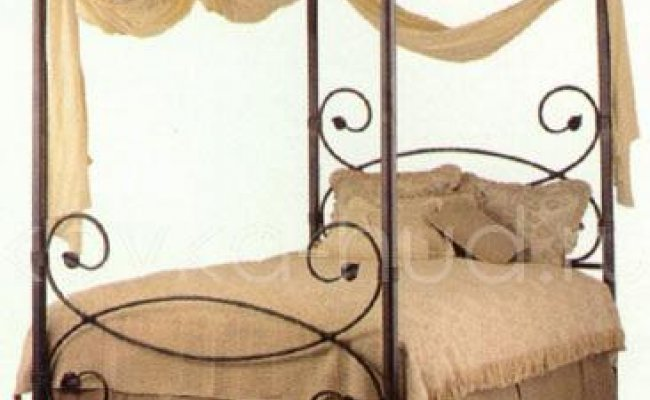 Кровать с балдахином кованая kkb-0715