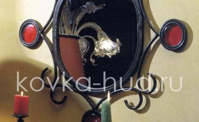 Зеркало кованое kzl-01423