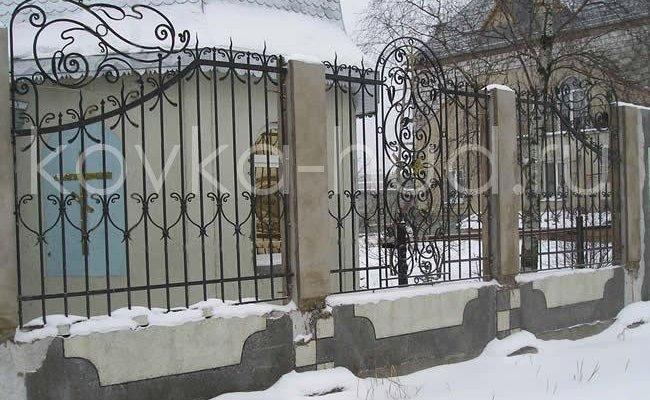 Забор кованый kz-19