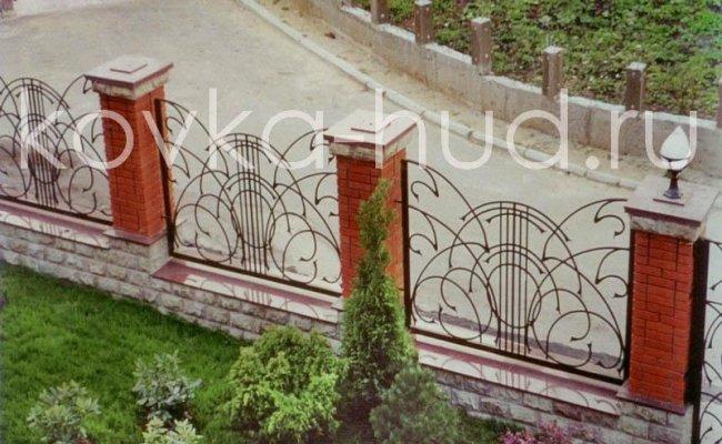 Забор кованый kz-20