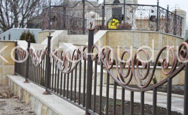 Забор кованый kz-24