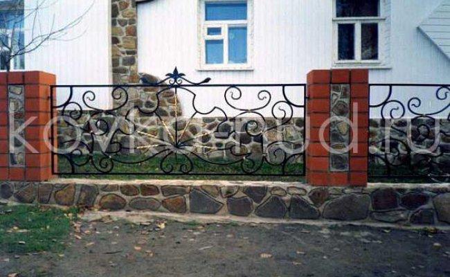 Забор кованый kz-26