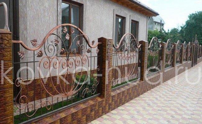 Забор кованый kz-40