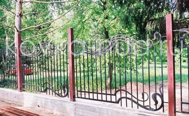 Забор кованый kz-47