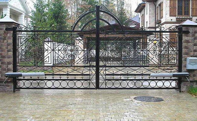 Ворота кованые kv-87