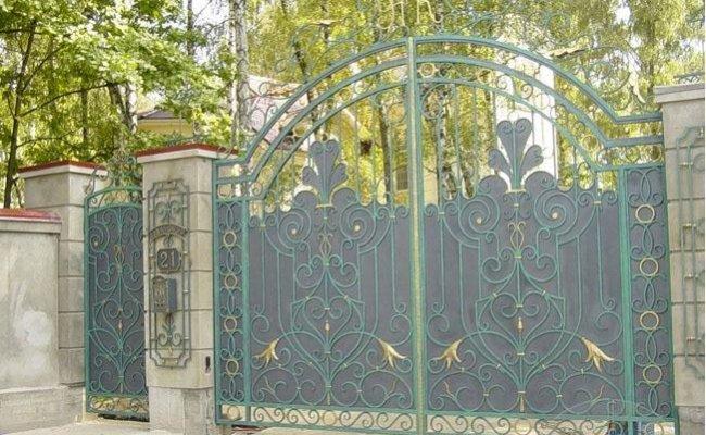 Ворота кованые kv-12