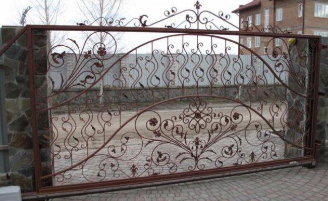Ворота кованые kv-56