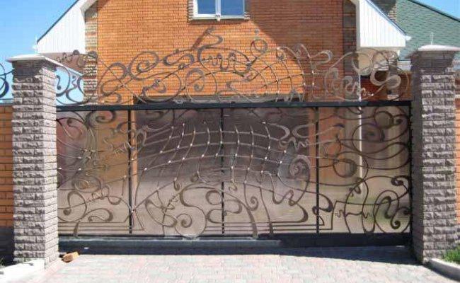 Ворота кованые kv-62