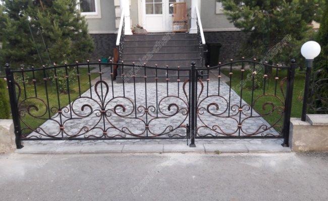 Ворота и калитка с патиной, ковка