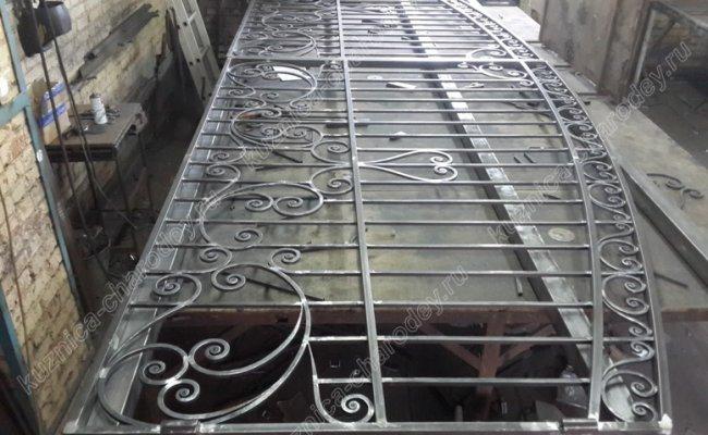 Кованые ворота, сборка
