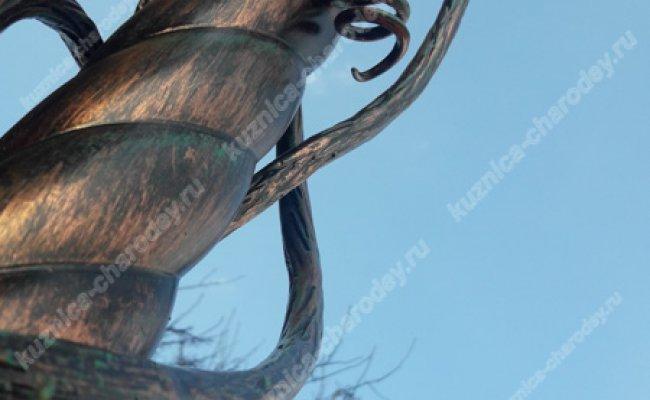 Козырек кованый лоза kz-01
