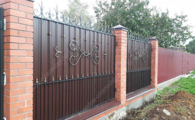 Забор кованый kz-04
