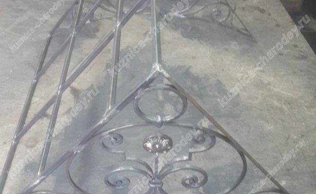 Прямой кованый козырек kz-16
