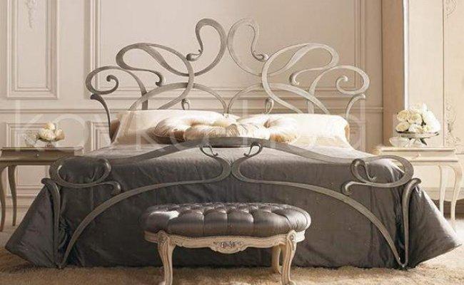 Роскошная кровать кованая rk-0902