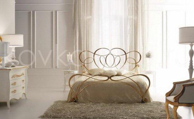 Роскошная кровать кованая rk-0903