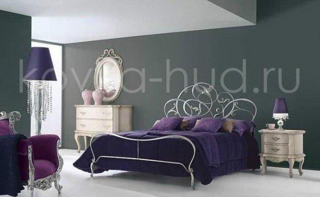 Роскошная кровать кованая rk-0911