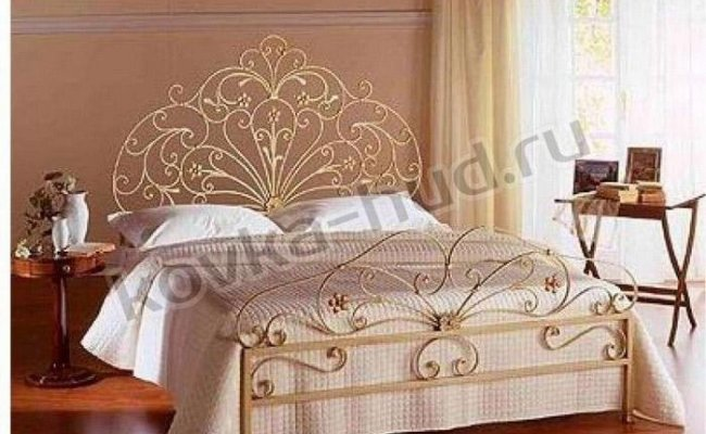 Роскошная кровать кованая rk-0925