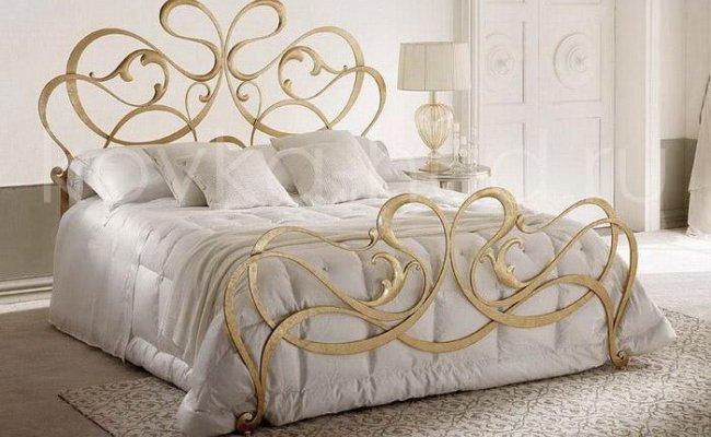 Роскошная кровать кованая rk-0937