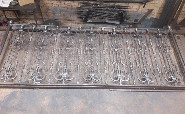 Изготовление секции кованых перил