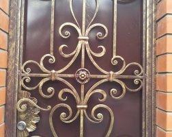 Ворота и калитка кованые с патиной