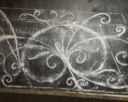 Эскиз кованых перил в кузнице