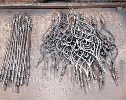 Элементы перил кованых подготовка