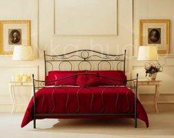 Классическая кровать кованая kkk-0609