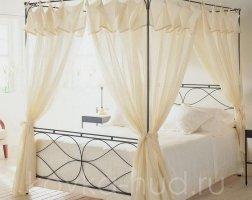 Кровать с балдахином кованая kkb-0701