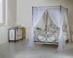 Кровать с балдахином кованая kkb-0702