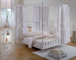 Кровать с балдахином кованая kkb-0703