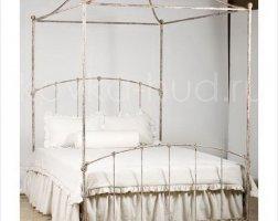 Кровать с балдахином кованая kkb-0704