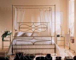 Кровать с балдахином кованая kkb-0706