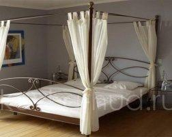 Кровать с балдахином кованая kkb-0707