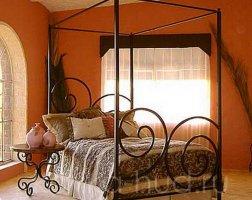 Кровать с балдахином кованая kkb-0708