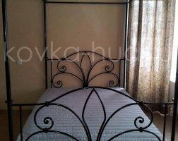 Кровать с балдахином кованая kkb-0709
