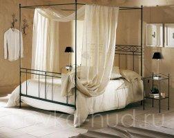 Кровать с балдахином кованая kkb-0713